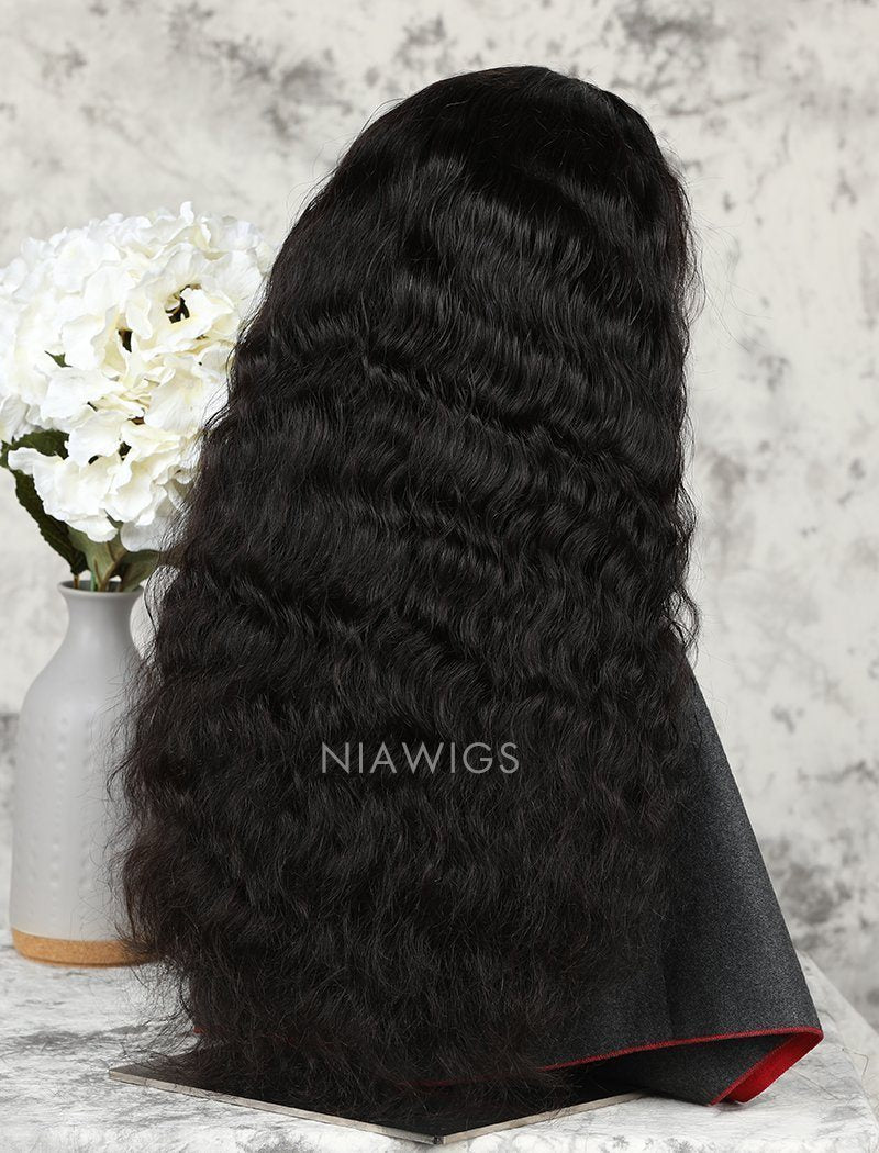Load image into Gallery viewer, Water Wave Human Hair Lace Front Wigs With Natural Hairline