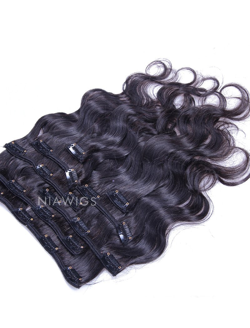 Load image into Gallery viewer, Clip-In Hair Extensions Brazilian Human Hair Body Wave