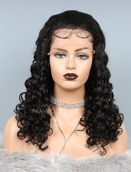 Natural Wave Glueless Full Stretchable Human Hair Wigs With Baby Hair