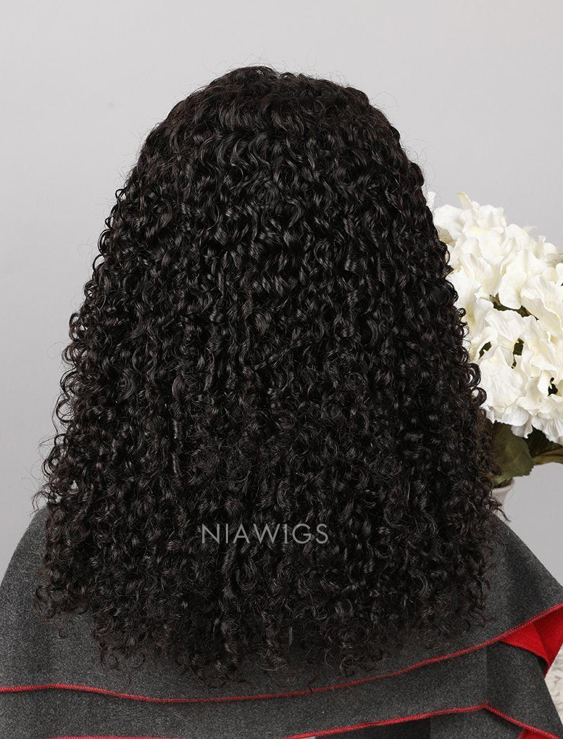 Load image into Gallery viewer, Curly Human Hair Full Lace Wigs With Baby Hair