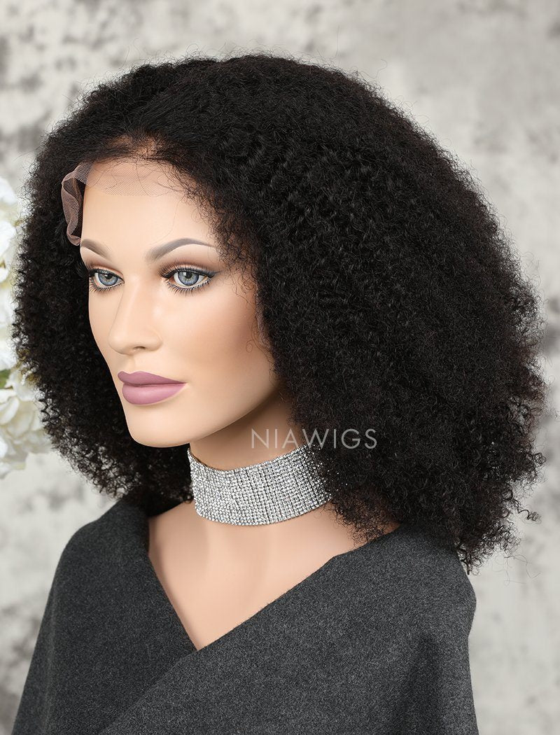 Load image into Gallery viewer, Afro Kinky Curly Human Hair Full Lace Wigs