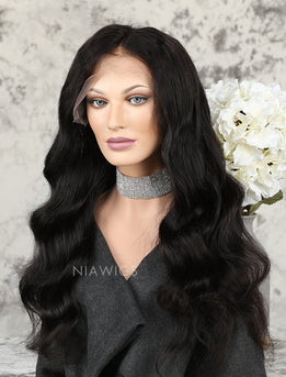 Silk Base Loose Wave Human Hair Full Stretchable Lace Wigs