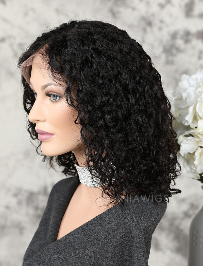 Load image into Gallery viewer, Fashion Bob Lace Front Wigs Human Hair Curly Bob Wig