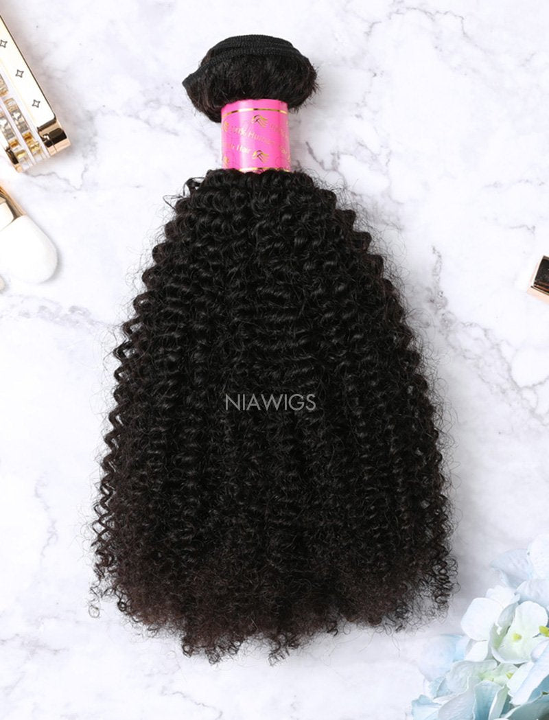 Load image into Gallery viewer, Hair Weft Bundles Natural Color Brazilian Afro Kinky Curly Human Hair