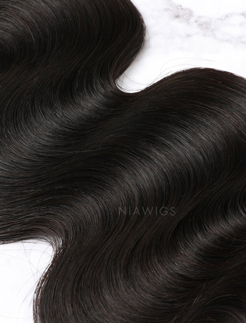 Load image into Gallery viewer, Hair Weft With Lace Closure Natural Color Brazilian Body Wave Human Hair