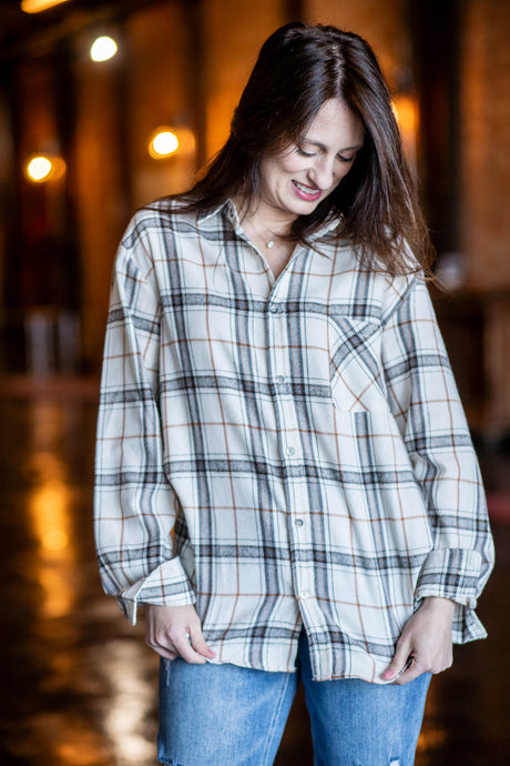 Evie Cream Flannel