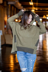Mackenzie Olive Pullover