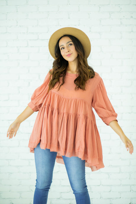 Mandy Coral Tunic
