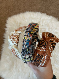 Multicolored Knotted Headband