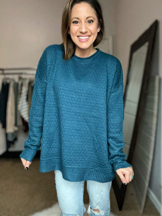 Denver Teal Sweater