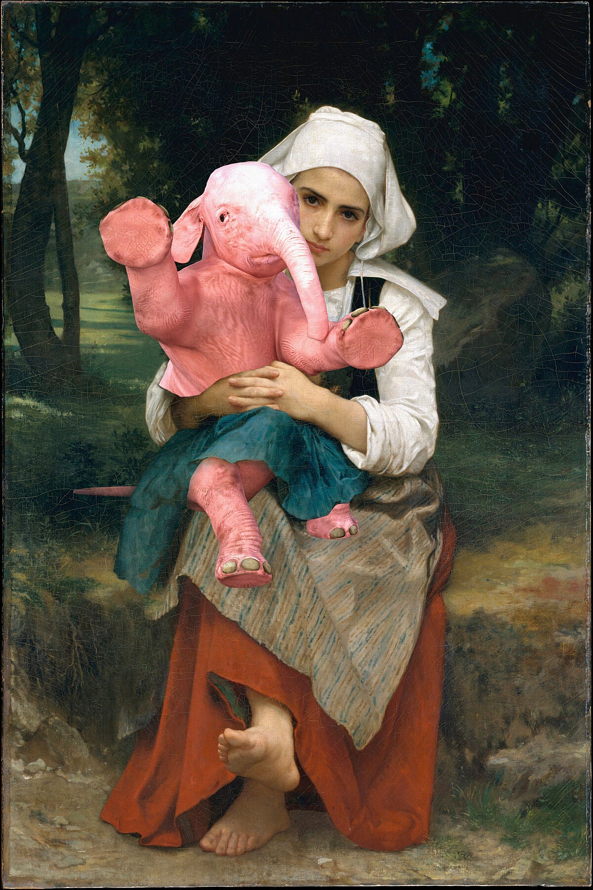 Breton Sister and Her Weird Brother_William Bouguereau