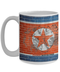North Korea Wall Crumbling dictator mug
