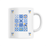 Mug Motif Bleu Multiple
