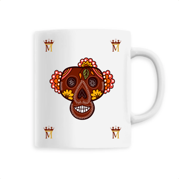 Mug Tete De Mort Mexicaine Marron