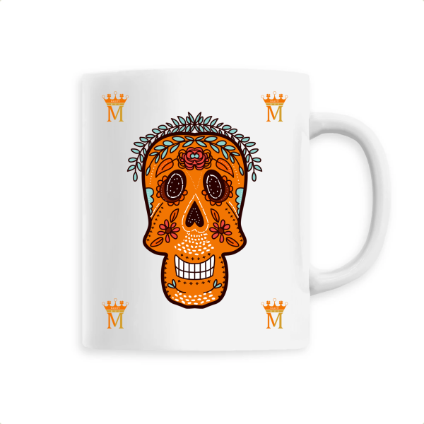 Mug Tete De Mort Orange