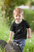 Load image into Gallery viewer, Kids drum kit t-shirt, organic cotton, made in the US