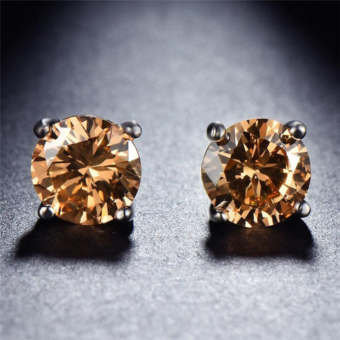 01-7mm Healing Citrine Studs- Perfect for Successful New Beginnings