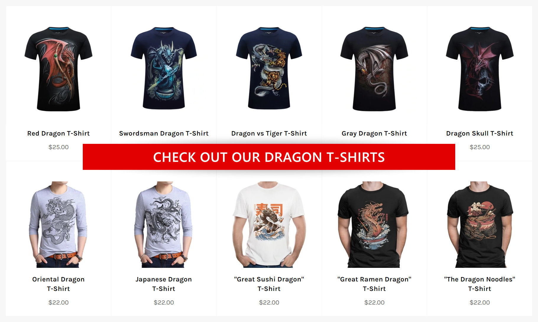The Dragon Shop's T-Shirts