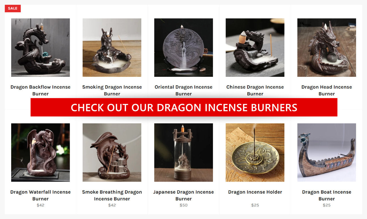 Dragon themed incense burners
