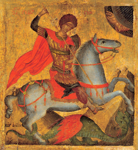 Saint George and the Dragon by Angelos Akotandos