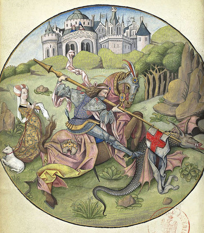 Saint George and the Dragon by Charles d'Angouleme