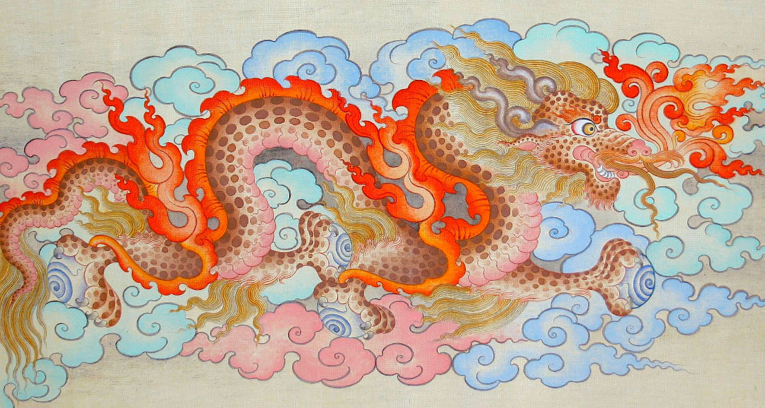 Tibetan Dragon Painting