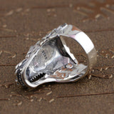 Chinese Dragon Head Ring (Silver)