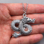 Oriental Dragon Necklace (Steel)