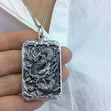 Man with the Dragon Amulet Necklace