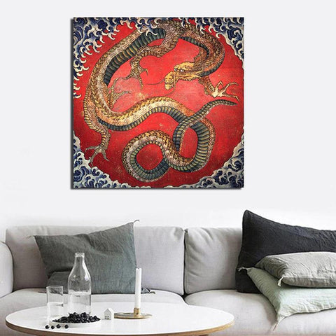 Ancient Japanese Dragon Wall Art
