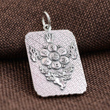 Dragon Amulet Necklace (Silver)