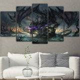 Black Dragon of Death Wall Art