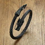 Black Dragon Bracelet made of Steel