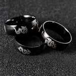 Black Dragon Rings made of Steel