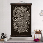 Black & White Chinese Dragon Wall Art