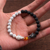 Yin & Yang Dragon Bracelet (Beads)