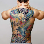 Blue Dragon Temporary Tattoo (Back)