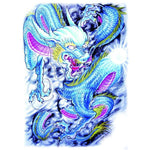 Blue Dragon Temporary Tattoo