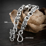 Double Dragon Bracelet (Silver)