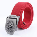 Red Canvas Dragon Belt