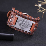 Celtic Dragon Bracelet (Leather)