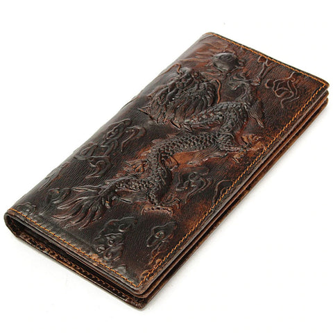 Chinese Dragon Leather Wallet