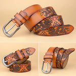 Chinese Dragon Belt in Light Brown