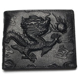 Chinese Dragon Leather Wallet (Compact)