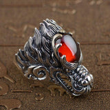 Dragon Head Ring made of Silver
