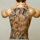 Chinese Dragon Temporary Tattoo (Back)