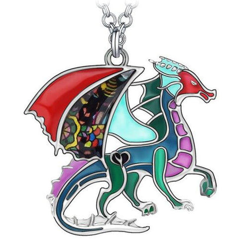 Colorful Dragon Necklace