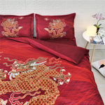 Red Chinese Dragon Bedding