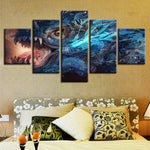 Chinese Dragon God Wall Art