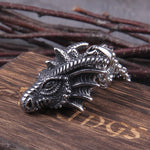 Dragon Head Necklace (Steel)